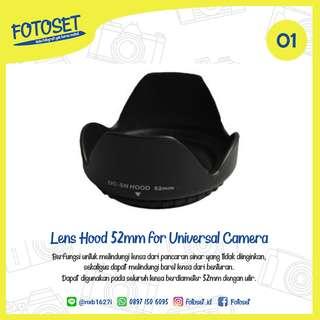 Lens Hood Universal 52mm (Canon, Nikon, Sony, Fuji, etc)
