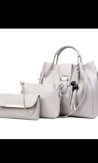 (PO) Women's Shoulder Bag Set