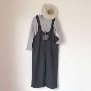 *NEW* Girls wool like overall Culottes size 7