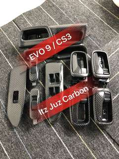 (Ready stock)EVO 9/ CS3 Carbon Door panel