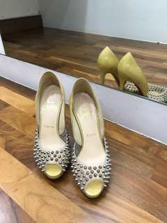 Christian Louboutin Spiked Peep Toes