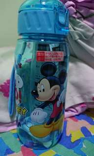 Brand New Mickey Mouse Straw Drinking Water Bottle