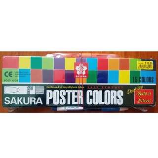 Sakura Poster Colours 15 Colours