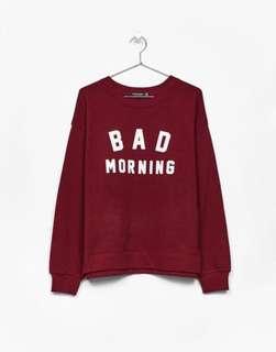 Bad Morning Maroon Sweater