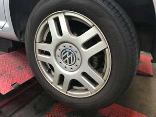 "16"" Yokohama 205/55/R16 & Stock VW Mk 4 Golf Rims"