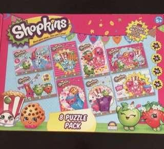 BNIB Shopkins 8 puzzles pack set