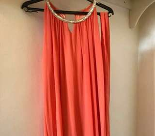 Tangerine orange sequin dress #rayaletgo
