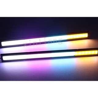 🚚 新款防水17cm四色 日行燈 高亮光 日型燈 LED燈泡 燈條 霧燈 鷹眼 導光條 1支價 DC12V