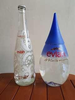 Millennium Evian Tear drop bottle