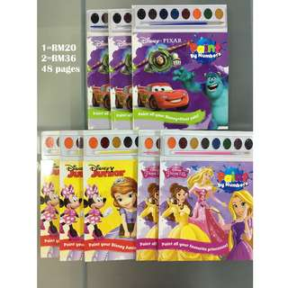Disney Pixar, Junior, Princess Paint by Numbers Books