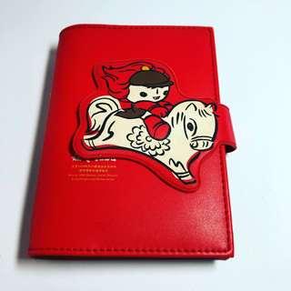 2008北京奧運紅色福娃六孔活頁本(紅皮套)