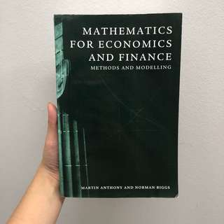 SIM UOL Textbook Mathematics for Economics and Finance by Martin Anthony and Norman Biggs