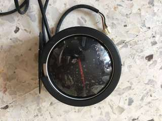 Defi white red light tachometer