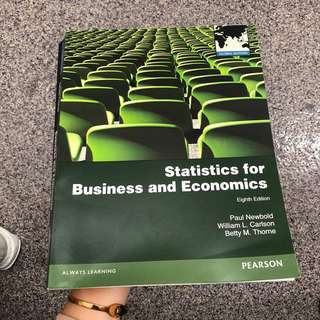 Statistics For Business And Economics Textbook for SIM UOL students