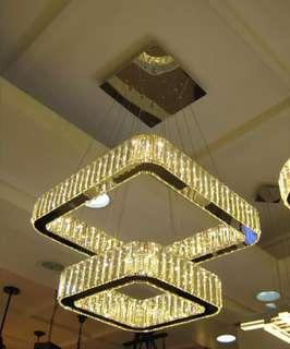 Cristal chandelier 55046/2 w/ remote modern lighning