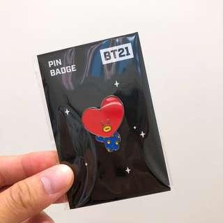 BT21 x monopoly Tata pin badge