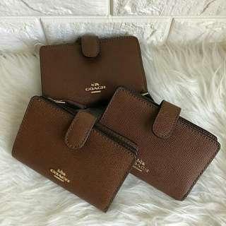 Coach Medium Wallet Saddle