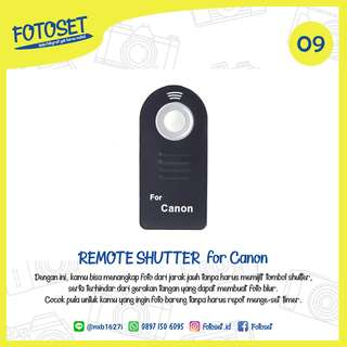Wireless IR Remote Shutter for Canon