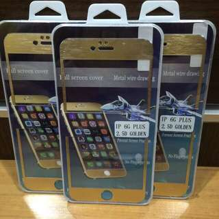 IPhone 6/6plus/6s/6splus Gold Tempered Glass Protector