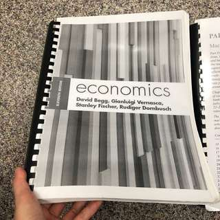 Economics Eleventh Edition Textbook by Begg, Vernasca, Fischer and Dornbusch for SIM UOL students