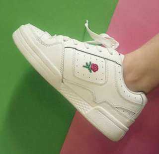 unif rose embroidered sneakers (inspired)