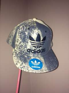 Adidas Originals Trefoil Plus Snapback Hat Cap Chain Blue Thrasher Rare