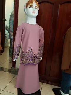 Baju Kurung Lace for kids size 4,6,8,10 years old