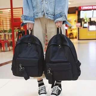 ✨CHIC✨ Gaudete Street Basic Black Backpack Bag