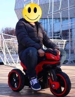 Red Big Bike Rechargeable Ride On Motorcycle