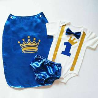 Prince costume for first birthday party