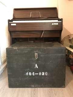 「早期軍用箱」 早期 古董 復古 懷舊 稀少 有緣 大同寶寶 黑松 沙士 鐵件 40年 50年