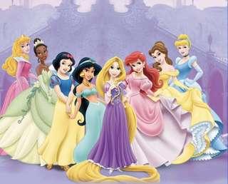 8x8FT Disney Princesses Birthday Party Room Decoration Backdrop