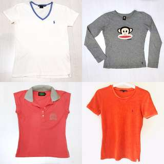 Tees bundle sales | Ralph Lauren Sports | Paul Frank | Mauritius Paradise Golf Club tee | XS - S