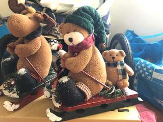🚚 日本 東北 和服 手工 手工藝品 兔子 擺設 擺飾 擺件 聖誕節 裝飾 雪橇 手工裝飾 鄉村風 美國