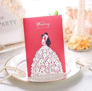 Wedding invitation card (3 colors)
