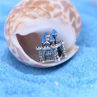 Code S117 - Castle 100% 925 Sterling Silver Charm compatible with Pandora