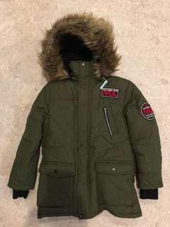 Army Green Boy Winter Jacket