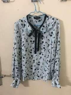 Printed blue blouses