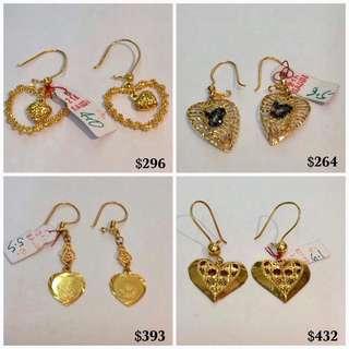 21K|850 Genuine Gold Earrings