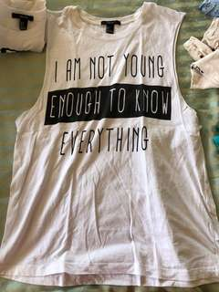 F21 Quote Muscle Tee