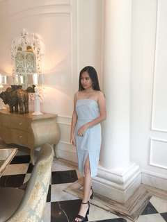 [USED ONCE] Baby Blue Dress