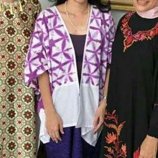 Cardi batik ungu