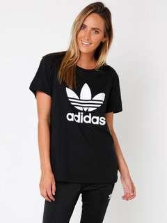 Adidas Boyfriend Trefoil Tee Size 6