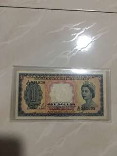 Singapore $1 old banks notes