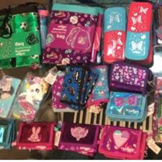Smiggle Drawstring Bags, Wallets, Water Bottles and Stationery