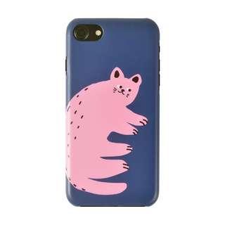 Pink Cat iphone case電話手機保護套
