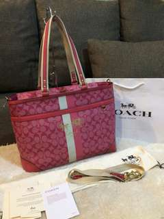 Authentic Coach two way bag with card, paperbag and dustbag