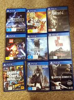 PS4 GAMES FROM $10