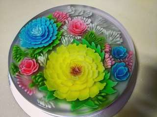 3d floral jelly cake