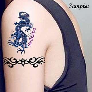 #T14 Purple Dragon Fake Temporary Body Tattoos Stickers Sellzabo
